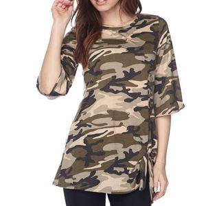 Camouflage Tie Knot Tunic